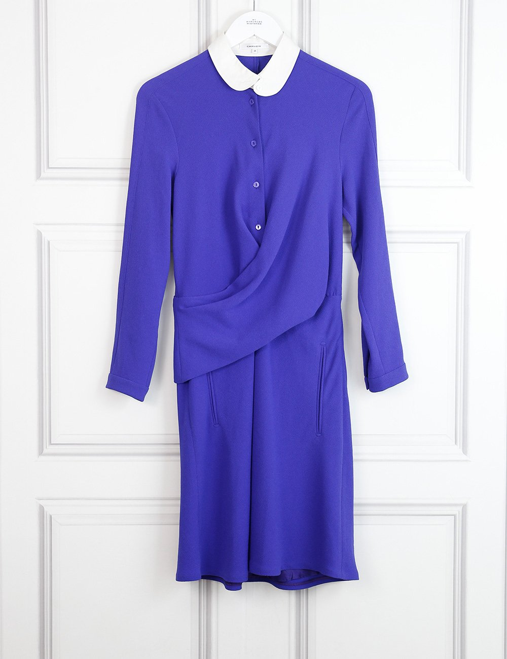 Carven purple dress with contrasting collar 10UK- My Wardrobe Mistakes