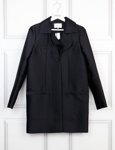 Carven black light coat 8UK- My Wardrobe Mistakes