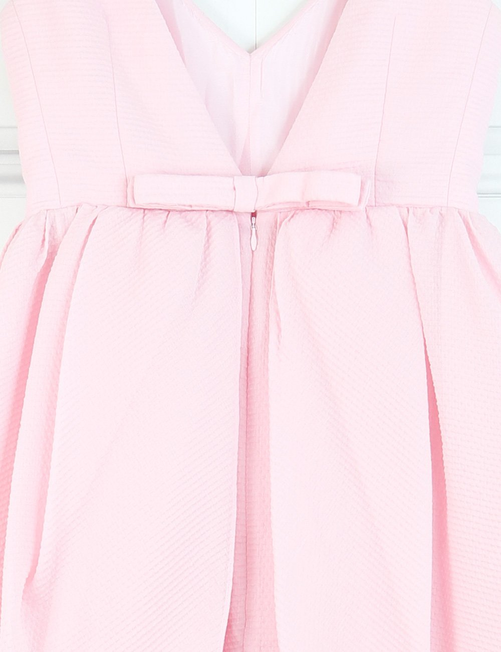 Carven pink long v-neck dress 8Uk- My Wardrobe Mistakes