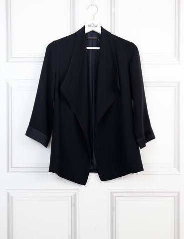 Catherine Quin black silk light loose jacket- My Wardrobe Mistakes