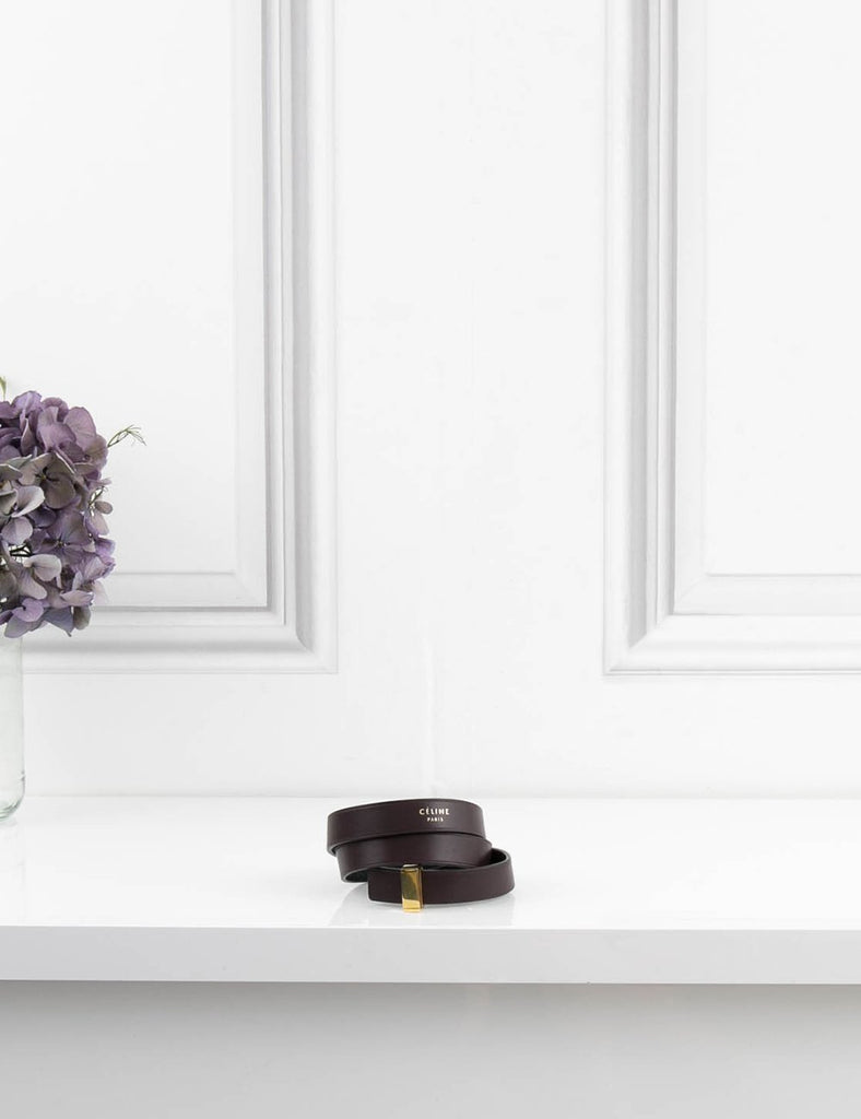 CELINE ACCESSORIES Leather bracelet triple tour
