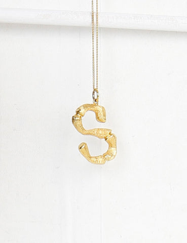 Celine S-pendant necklace