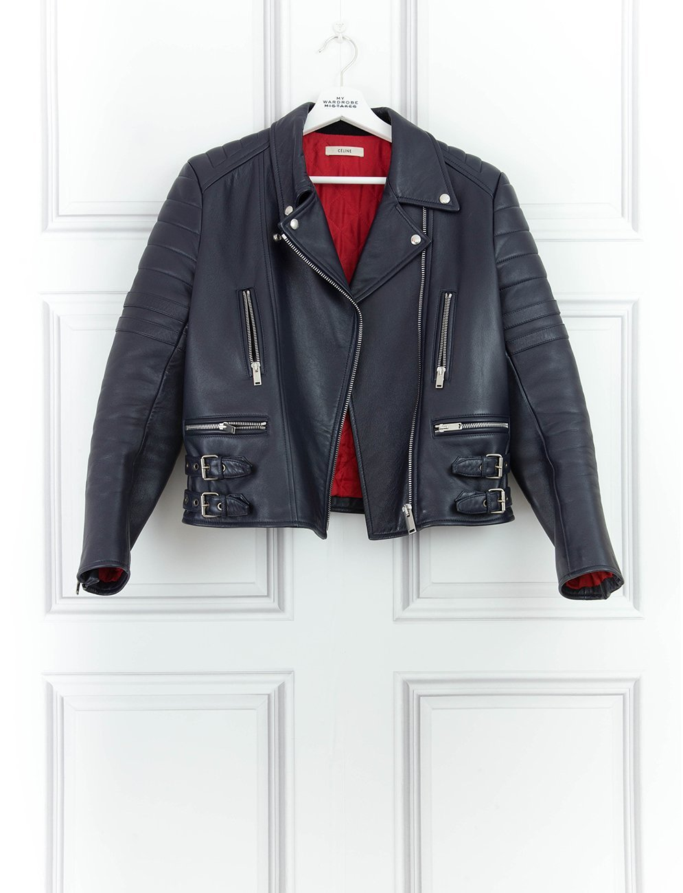 CELINE CLOTHING Leather biker jacket