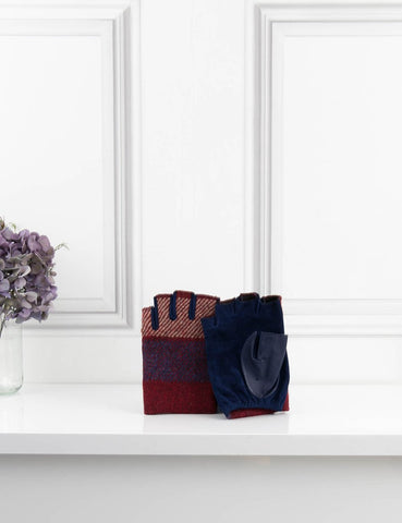 Chanel multicolour fingerless gloves in tartan 7.5- My Wardrobe Mistakes