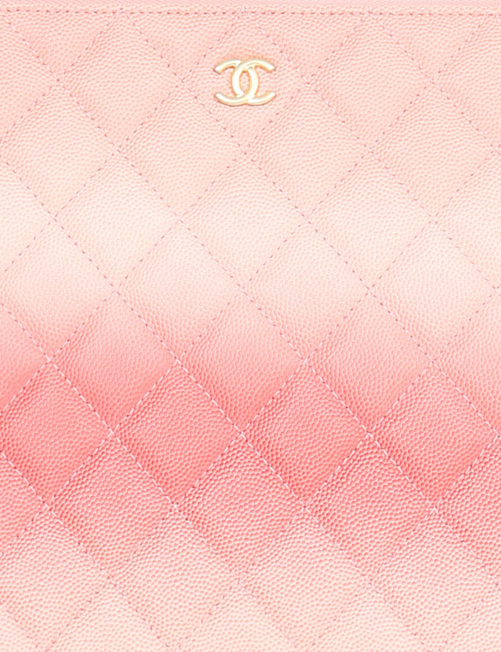 CHANEL ACCESSORIES One size / Pink CHANEL Medium Classic O Case in dégradé grained quilted leather