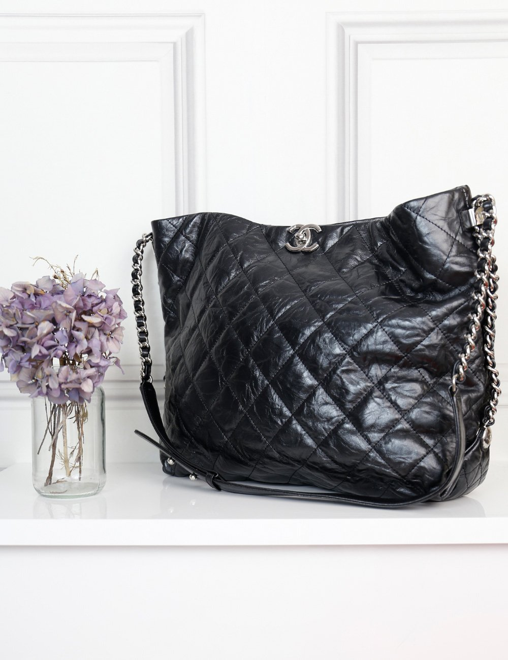 Chanel black Big Bang large hobo bag- My Wardrobe Mistakes