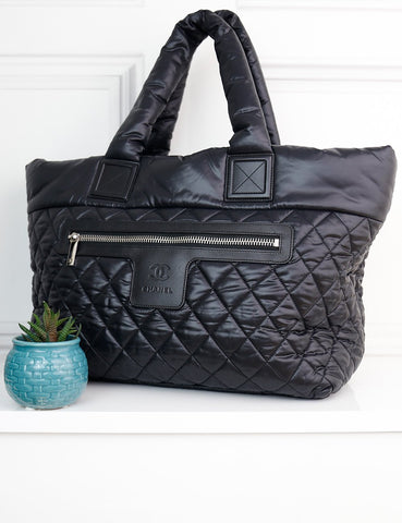 CHANEL BAGS One size / Black CHANEL Coco Cocoon Shopping Tote Bag