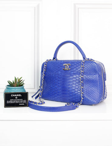 CHANEL BAGS One size / Blue CHANEL Exotic Leather Trendy CC Bowling Bag