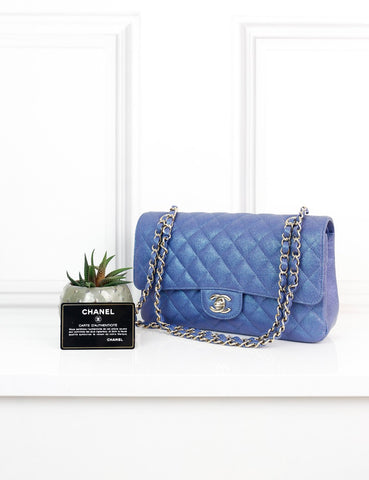 CHANEL BAGS One size / Blue CHANEL Medium Metallic Classic Flap Bag