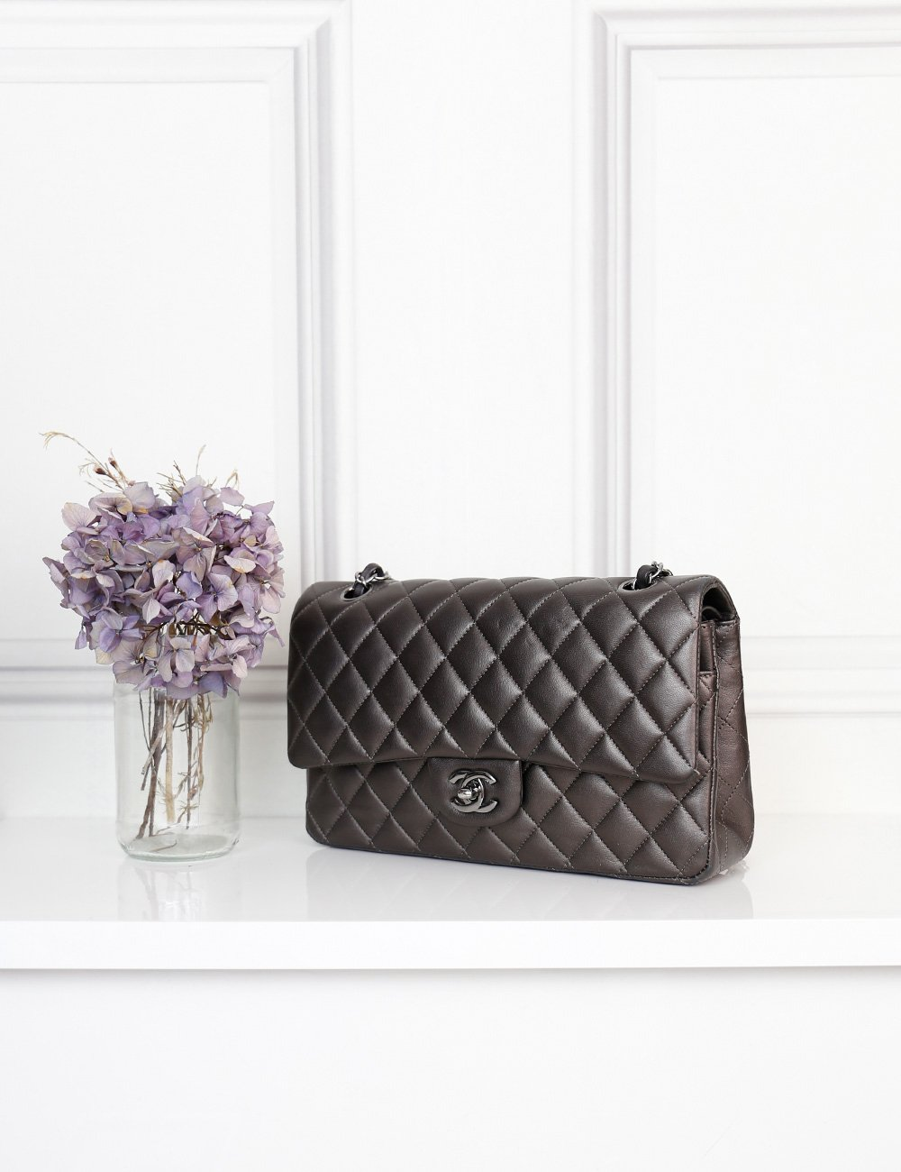 Chanel bronze Medium Classic double flap quilted bag