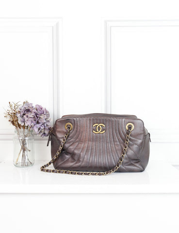 CHANEL bronze Quilted leather shoulder handbag-My Wardrobe Mistakes