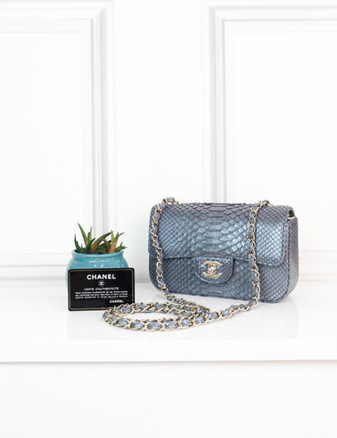 CHANEL BAGS One size CHANEL Classic New Mini Flap Bag in iridescent exotic leather