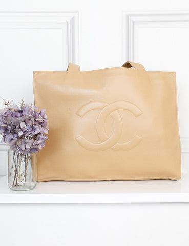 Chanel cream Caviar leather jumbo large tote bag- My Wardrobe mistakes