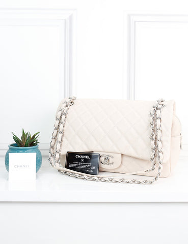 CHANEL BAGS One size / Cream CHANEL Jumbo Easy Flap Bag (Basic flap bag)