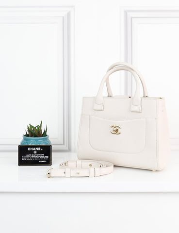 CHANEL BAGS One size / Cream CHANEL Mini Neo Executive Tote Shopping Bag