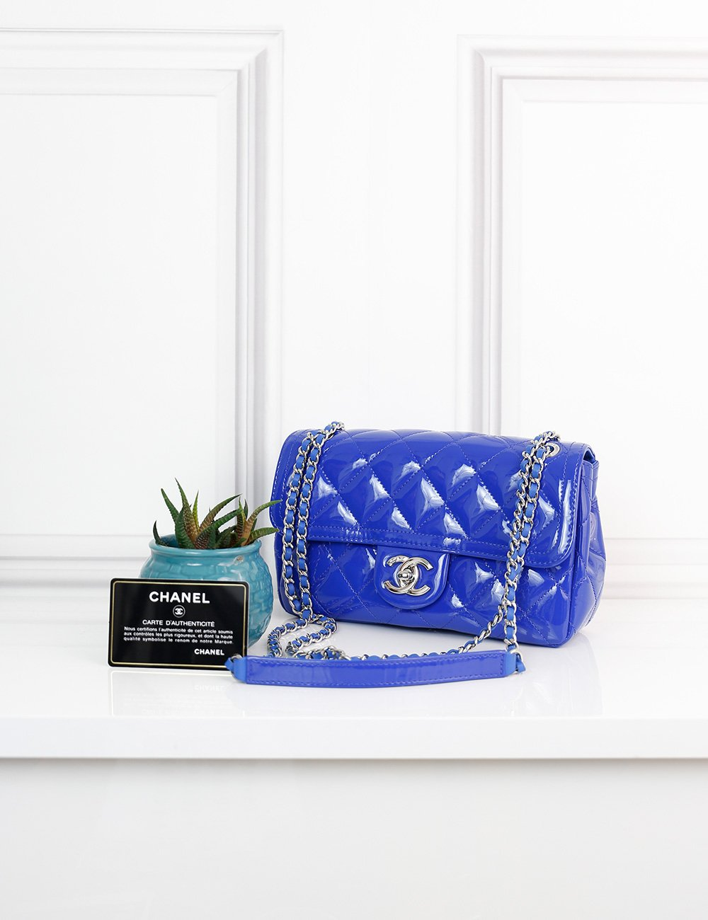 CHANEL BAGS One size / Electric blue CHANEL Coco Shine Flap Small Bag