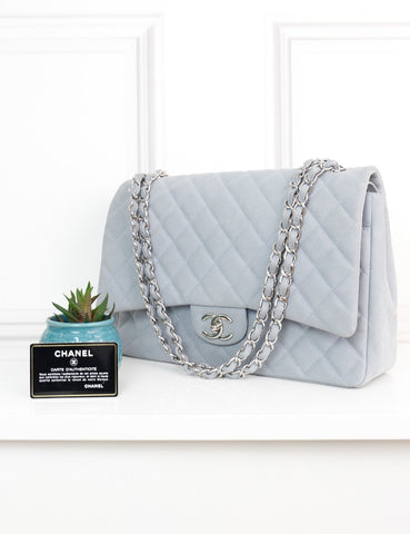 CHANEL BAGS One size / Grey CHANEL Maxi Classic Double Flap Bag