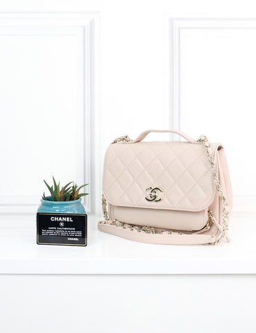 CHANEL BAGS One size / Light beige CHANEL Medium Caviar Quilted Business Affinity Flap Bag in light beige