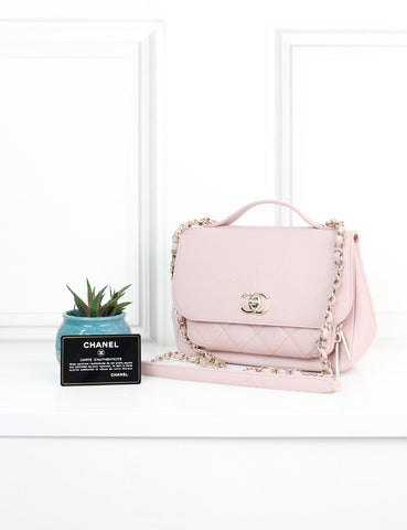 CHANEL BAGS One size / Light pink CHANEL Medium Caviar Quilted Business Affinity Flap Bag in light pink