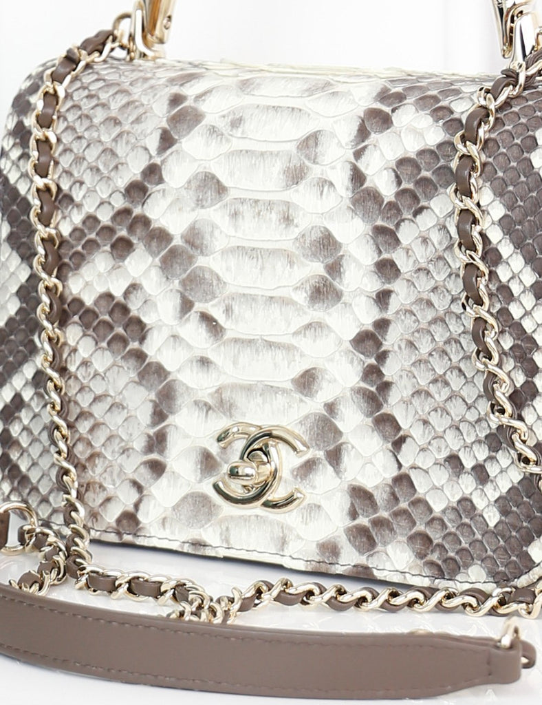 CHANEL BAGS One size / Multicolour CHANEL Carry Chic Flap Bag Python Small