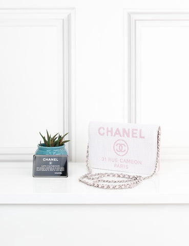 CHANEL BAGS One size / Multicolour CHANEL Woven Deauville Wallet on Chain