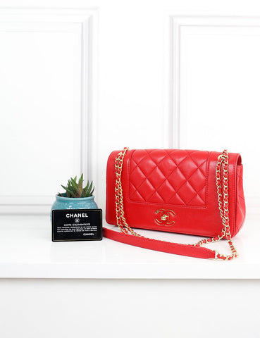 CHANEL BAGS One size / Red CHANEL Mademoiselle Vintage Flap Bag- Paris in Rome Collection