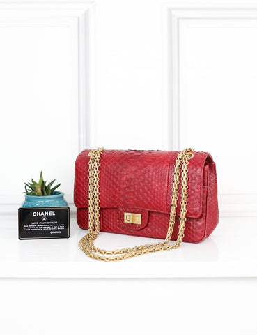 CHANEL BAGS One size / Red CHANEL Reissue 2.55 255 in dark red exotic leather