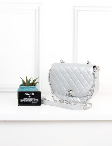 CHANEL BAGS One size / Silver CHANEL Casual Pocket Flap Messenger Shoulder Bag- My Wardrobe Mistakes
