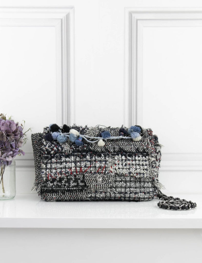 CHANEL BAGS Timeless tweed bag with pompom