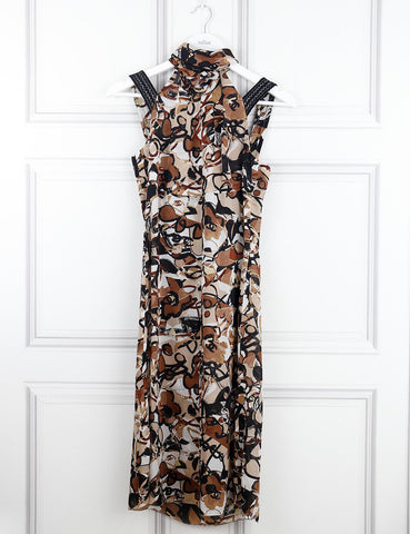 CHANEL Halterneck print dress 10Uk- My Wardrobe Mistakes