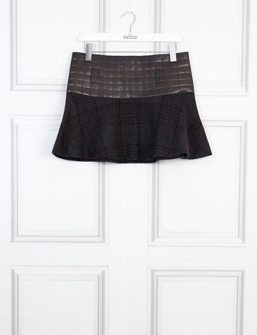 Chanel multicolour leather mini skirt 10Uk- My Wardrobe mistakes