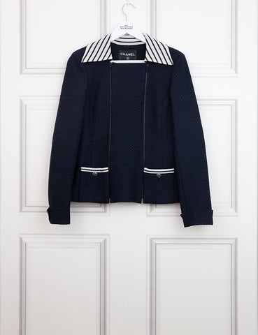 CHANEL CLOTHING 10UK-42IT-38FR / Multicolour CHANEL Striped Panel Sailor Jacket