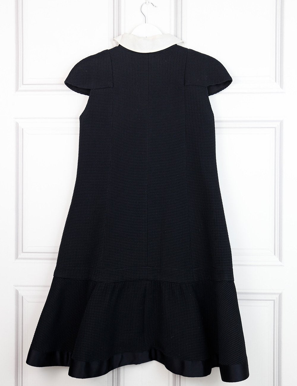 CHANEL Mid-length dress with contrasted collar and bow 14Uk- My Wardrobe Mistakes