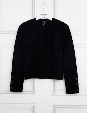 CHANEL CLOTHING 6UK-38IT-34FR / Black CHANEL Cashmere crew neck knitted pullover
