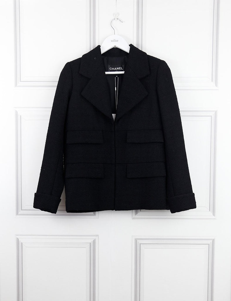 CHANEL black Short jacket with four pockets 6Uk- My wardrobe Mistakes