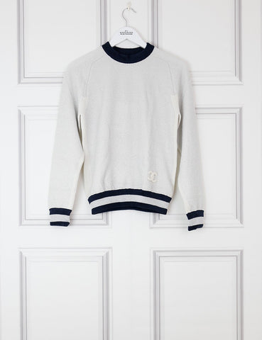 CHANEL CLOTHING 6UK-38IT-34FR / Multicolour CHANEL Crew-neck cashmere jumper with shiny details