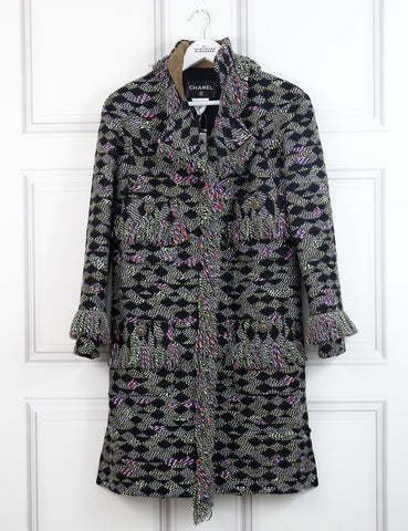 Chanel multicolour Fantasy tweed coat 6Uk- My Wardrobe Mistakes