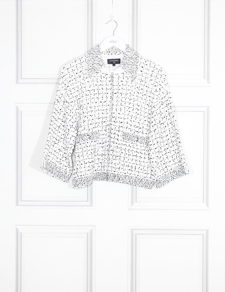 CHANEL multicolour Knitted short jacket with two pockets 6Uk-  My Wardrobe Mistakes