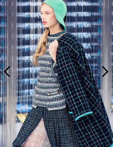CHANEL multicolour Long tweed coat 6Uk- My Wardrobe Mistakes