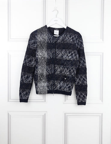 Chanel multicolour woven bomber jacket 8Uk-My Wardrobe Mistakes