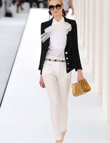 CHANEL white Trousers with extra layer of silk 8Uk- My Wardrobe Mistakes