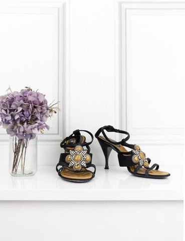 Chanel multicolour embellished heeled sandals 6Uk- My Wardrobe Mistakes