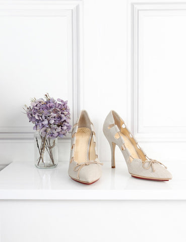 Charlotte Olympia cream pumps with bow 7Uk- My Wardrobe Mistakes