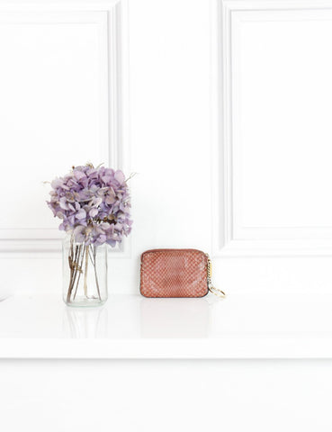 CHLOE pink snakeskin purse- My Wardrobe Mistakes