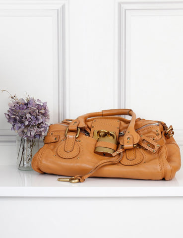 Chloe tan Paddington satchel bag