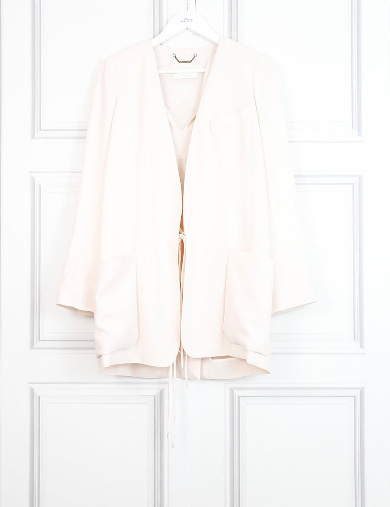 Chloe pale pink boxy jacket with top 8UK- My Wardrobe Mistakes