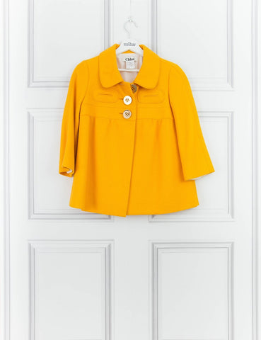 CHLOE CLOTHING Cropped yellow jacket