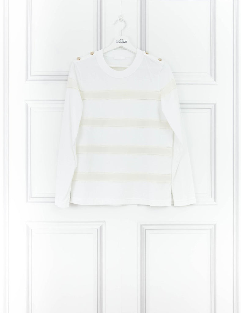 CHLOE CLOTHING Long-sleeve white cotton top