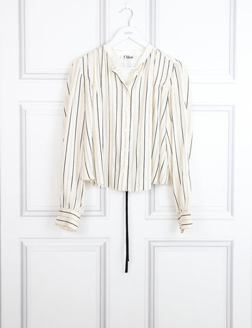 Chloe multicolour striped silk shirt 12Uk- My Wardrobe Mistakes