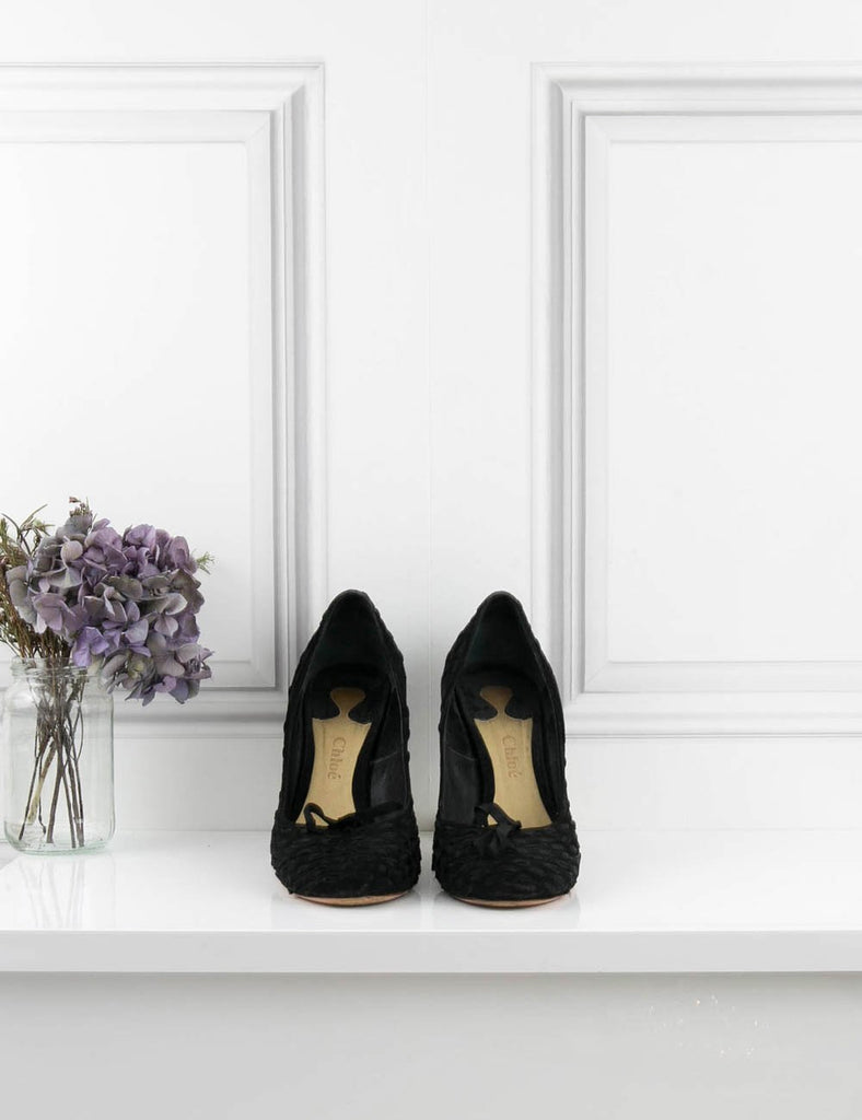 CHLOE SHOES Velvet and Satin woven pump